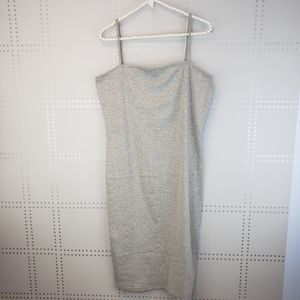 Topshop Gray Tank Midi Dress